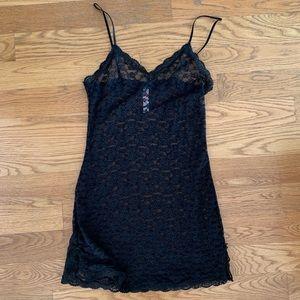 Victoria's Secret the Lacie Black Lace Slip